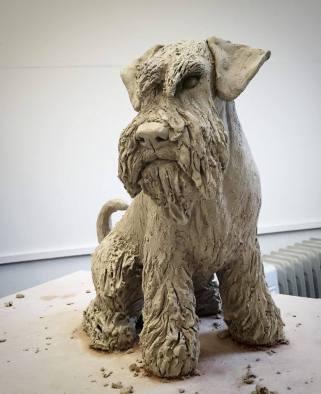 schnauzer sculpture