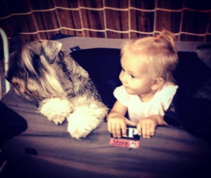 Afonya and baby